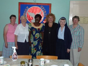 Photo of Odette Kayirere, Conchita Dunn and Sisters of Mercy.