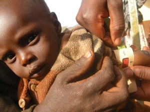 Baby Maria, 9mths, is assessed for malnutrition at the Catholic Clinic at Hula-Hula village near Marsabit.