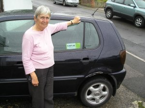 Jose Cummings & her CAFOD car