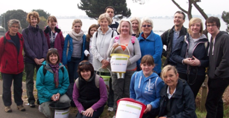 Parishioners from St Mary's Parish Poole Walk For Water.