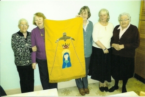 Ladies from Our Lady Star of the Sea Weymouth, who designed and made a banner for CAFOD Connect2 community in Rwanda