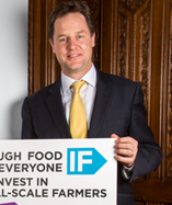 Nick Clegg MP, Leader of the Liberal Democrats, at the launch of the IF campaign 2013 in the State Rooms of Speakers House, Palace of Westminster London, UK.