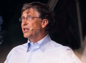 Bill Gates ath the BIG IF Rally