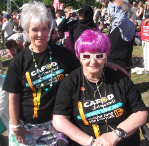 Christine Kolinsky and Mary Marnell, who travelled to the rally in London with a group of 200 from the South West
