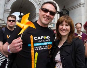 Simon Giarchi CAFOD manager for the South West on the left.