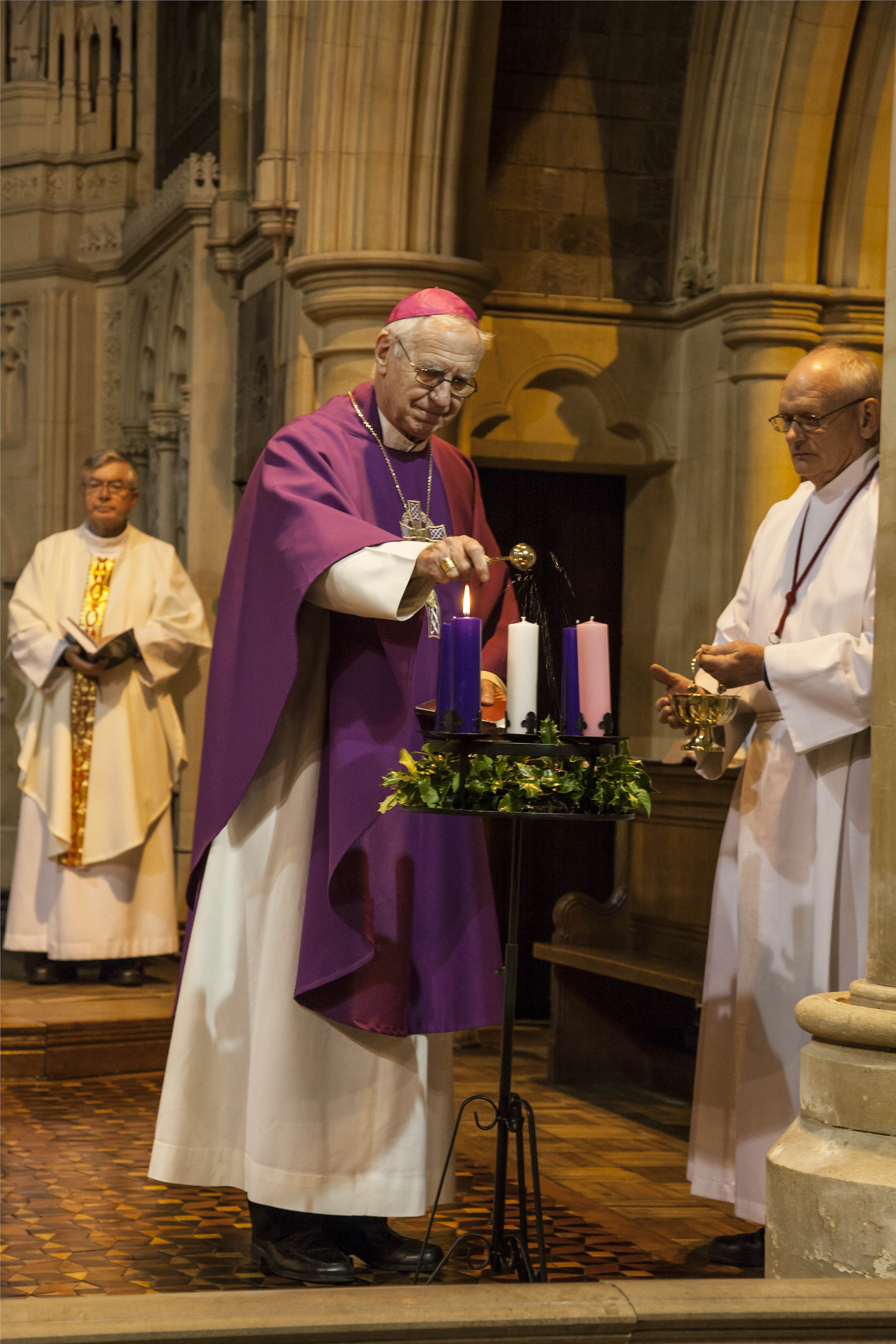 Bishop Christopher lighting the Advent wreath & CAFOD Advent Mass   CAFOD Plymouthu0027s Blog azcodes.com