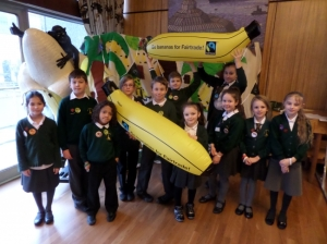 Children from Cathedral School of St Mary at the Fairtrade Schools Campaign day.