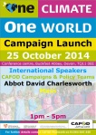 One Climate One World Campaign Launch 25 October - Poster