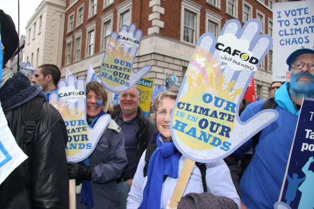 CAFOD Campaigners at the Wave Climate Rally 2009