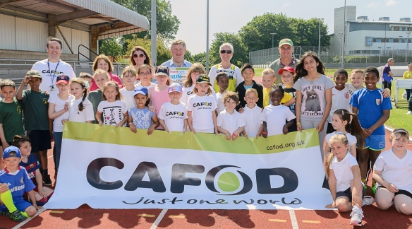 St Josephs School with CAFOD Diocesan Manager Simon Giarchi and Plymouth MP Oliver Colville