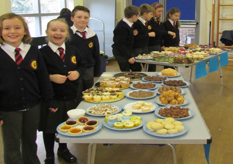 The amazing cake stall by Year 4 at St Mary and St Joseph's Primary School.