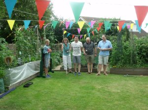 The final of the seniors boules competition