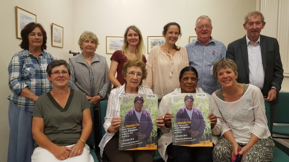Volunteers learn about how CAFOD's Harvest fundraising will help farmers in Bolivia