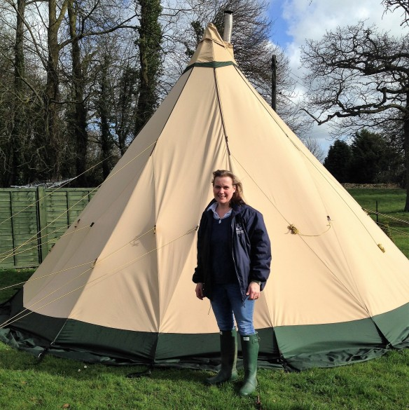 Lu Worrall and her tent