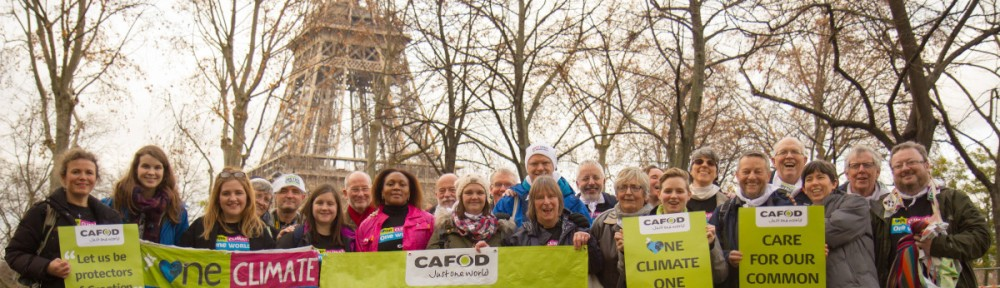 CAFOD supporters in Paris